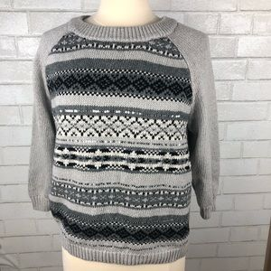 Old Navy Gray Sequins Sweater